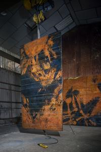 """""""Cosmos 68-05"""", Set of five panels, from Tour Aquitaine, La Defense (Hauts-de- Seine)"""