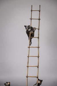 Trouble - Cubs on a Ladder [detail]