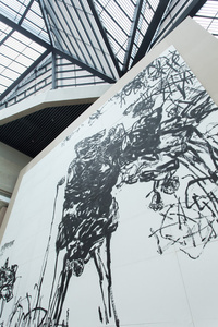"Ink Painting, Installation, Architecture and Theory view, ""Pan Gongkai: Dispersion and Generation"" at Zhejiang Art Museum"