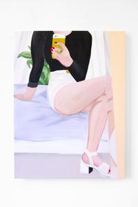 Autoportrait avec sandales blanches