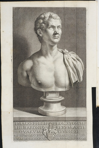 Frontispiece : bust of Baron Stosch