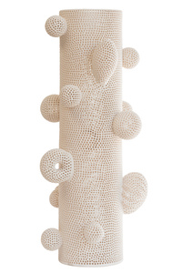 Perforated Totem Cylinder with Attachments