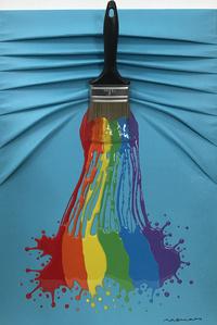 Let's Paint Blue & Rainbow