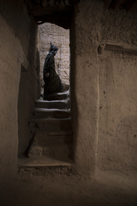 Untitled (figure/stairwell)