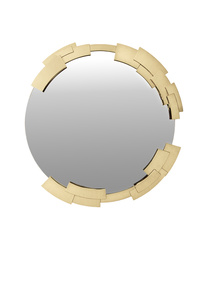 Round Cupside Mirror in 24k Gold Plated Metal