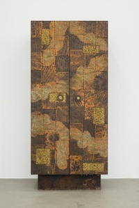 Copper and Brass Sheets Vertical Cabinet