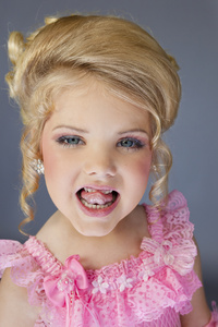 "Pageant winner and ""Toddlers and Tiaras"" star Eden Wood, 6, Los Angeles"