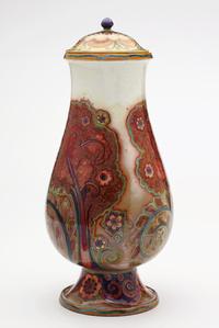 Golden Blooms Covered Vase