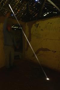 Dust Swept and thrown to reveal a shaft of light Ibitipoca, Brazil 12 September 2014
