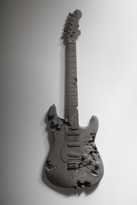 Obsidian Eroded Guitar