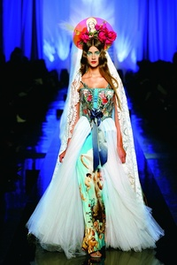 """Apparitions"" gown from Jean Paul Gaultier's ""Virgins (or Madonnas)"" women's haute couture spring-summer collection of 2007"