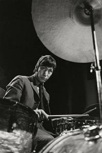 """""""The Drummer"""" Charlie Watts on Stage, Copenhagen, 1965"""