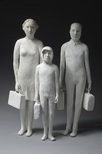 Petite famille sur le depart