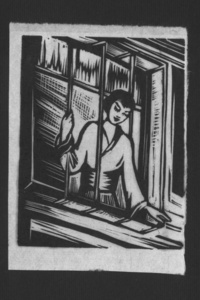 untitled woodcut from Malířka Na Cestách (The Artist on her Journey)