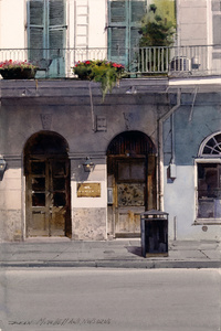 French Quarter Balcony & Flowers