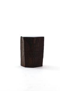 Hatchet shaved keyaki (zelkova) tea caddy