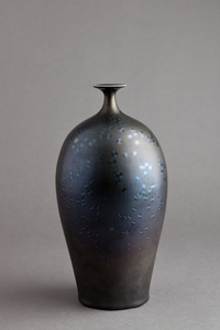 Vase, starry night glaze