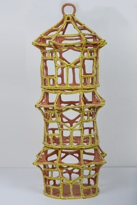 Large Yellow Pavilion Birdcage