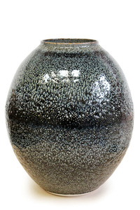 Brown/Blue Oil Spot Vessel