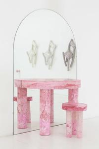 Pink Pulp Vanity + Stool
