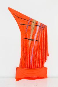 Orange Velvet Grid