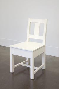 White Slatback Chair