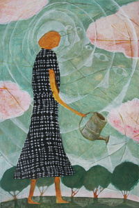 Woman with Watering Can