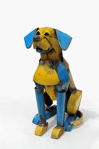 Yellow and Blue Dog