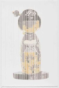 Japanese Traditional Kokeshi Bobble, Perceive-Conceive Series (Ed. of 11)