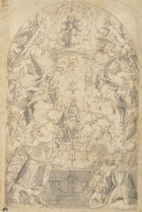 Madonna and Child with Angels Bearing Symbols of the Passion