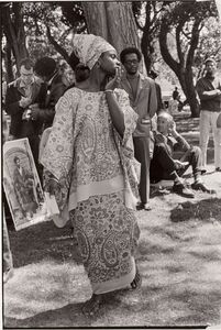 Young woman at Free Huey Rally, De Fremery Park, Oakland, CA