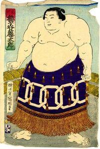 Sumo Wrestler Umegatani Tōtarō I (1845-1928) The 15th Grand Champion (Yokozuna)
