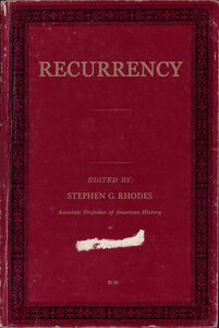 Recurrency (Book Cover)
