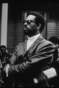 Eldridge Cleaver, Minister of Information for the Black Panther Party, Editor of The Black Panther, Auther of Soul on Ice, at Free Huey Rally, Bobby Hutton Memorial Park, Oakland, CA