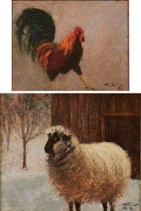 Two works of art: Buster, Sheep