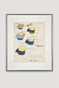 Presentation Drawing of Broccoli Bowl for Bloomingdale's