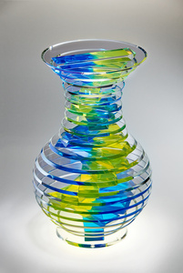 Middy Polished Plate Glass Vase