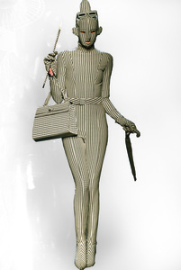 """A design from Jean Paul Gaultier's """"French Cancan"""" women's ready-to-wear fall-winter collection of 1991–92, as seen at his thirtieth anniversary retrospective runway show, October 2006"""