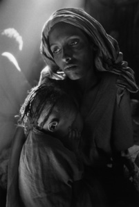 MOTHER AND CHILD AT THE KOREM CAMP, ETHIOPIA