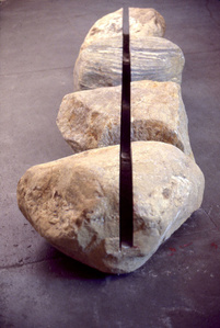 Boulders Connected by Linear Void