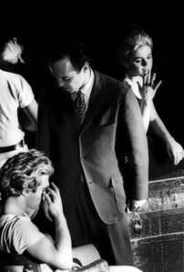 Gerard Malanga, John McDermott and Edie Sedgwick on the set of Vinyl