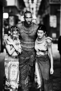 """Survivors (Laetitia Casta, Vladimir McCary, Jenny Shimizu) (Jean Paul Gaultier's """"Tattoos"""" women's spring-summer ready-to-wear collection of 1994)"""
