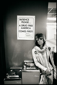 "Keith Richards ""Patience Please a Drug Free America Comes First"", 1972"
