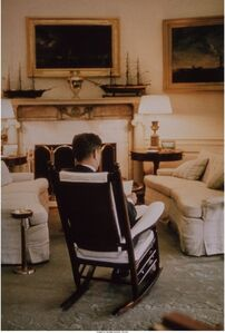 President Kennedy in the Oval Office