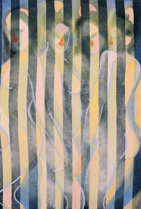 Four Women (Striped Pillowcase)