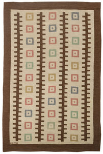 Vintage Swedish Flat weave Rug by GO, BB6319