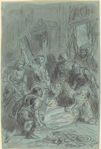 A History Scene with a Fainting Woman
