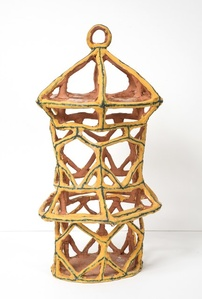 Gold Birdcage with Triangles