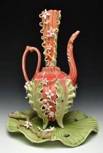 Fancy Spout Ewer with Tray