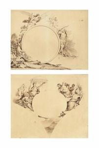 Allegorical designs representing America